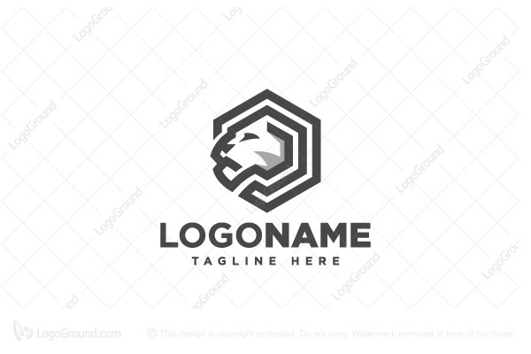 Logo for sale: Hexagon Tiger Logo