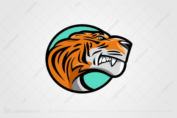 Logo for sale: Cartoon Tiger Logo