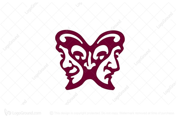 Logo for sale: Butterfly Mask Logo