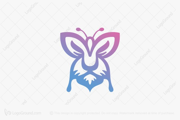Logo for sale: Butterfly Lion Logo