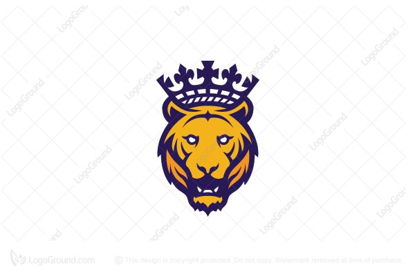 Logo for sale: Tiger King Head Logo