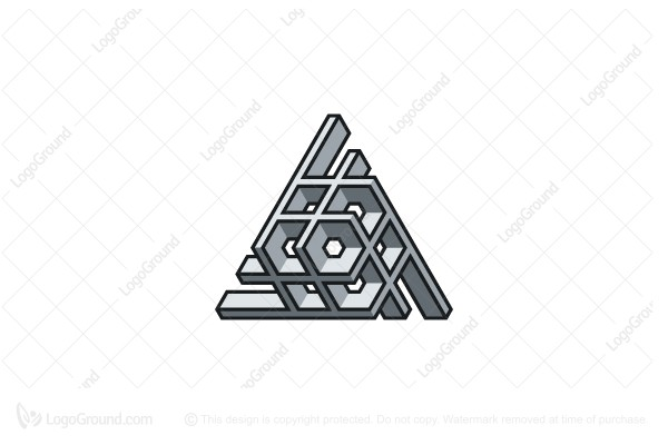Logo for sale: Triangular Structure 3d Abstract Logo