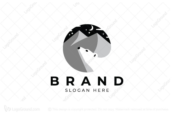 Logo for sale: Mountain And Bear Logo