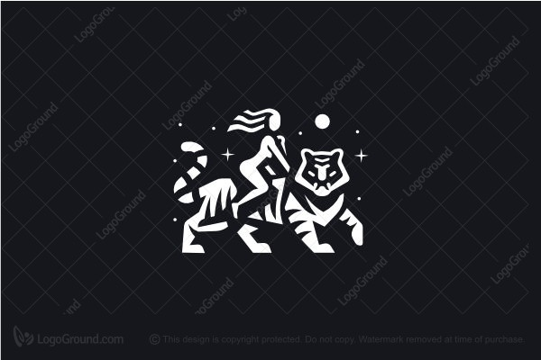 Logo for sale: Tiger Woman Logo