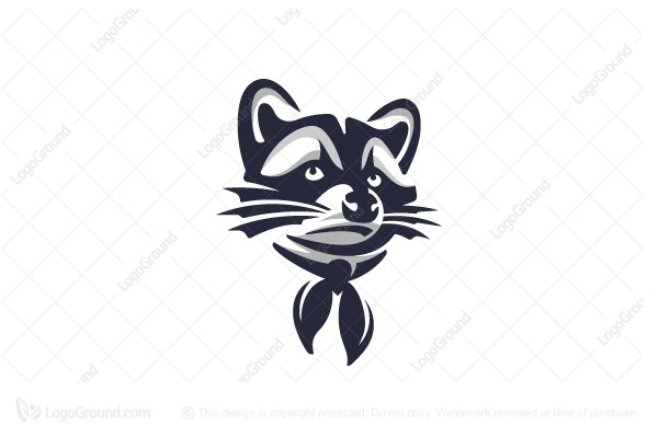 Logo for sale: Raccoon Logo