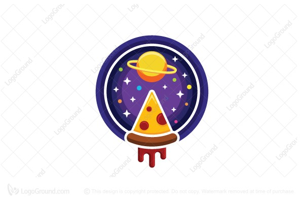 Logo for sale: Space Pizza Logo