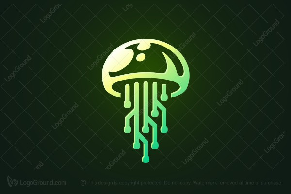 Logo for sale: Pcb Jellyfish Technology Logo