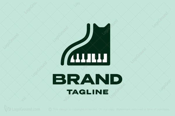 Logo for sale: Piano Cat Logo