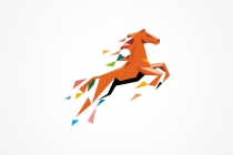 Abstract Horse Logo
