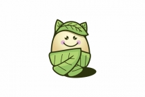 Cute Organic Egg Logo