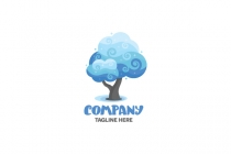 Clouds Tree Logo