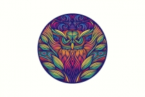 Colorful Owl Logo