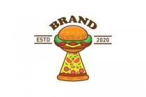 Burger Pizza Logo