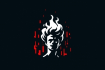 Hades Flame Hair Logo