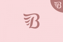 Letter B And Wing Logo
