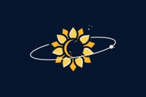 Space Sunflower Logo
