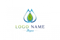 Water And Leaf Logo
