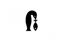 Penguin And Fish Logo