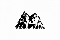 Cow And Mountain Logo
