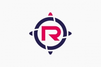 Letter R Compass Logo